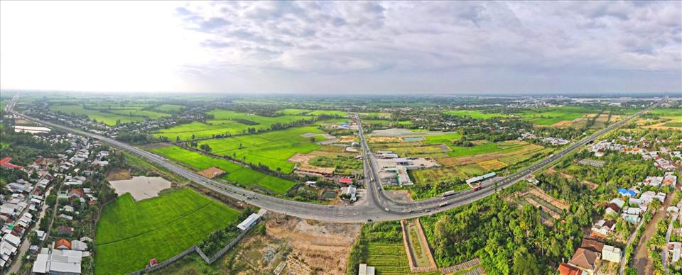 Tuyến cao tốc Lộ Tẻ - Rạch Sỏi chính thức thông xe ngày 12.1.2021. Ảnh: P.V.