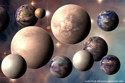 Một số hành tinh có thể có sự sống đã được xác định - Ảnh: PHL/UPR ARECIBO, dựa trên dữ liệu HUBBLE/ESA/NASA.
