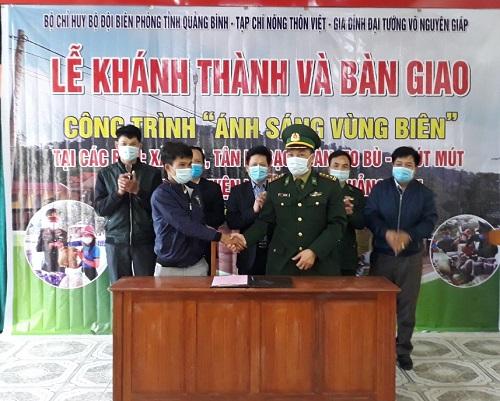 Khánh thành công trình Ánh sáng vùng biên tại xã Lâm Thủy, huyện Lệ Thủy, tỉnh Quảng Bình.