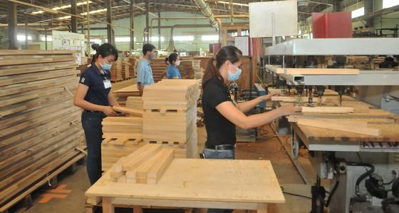 Sản xuất tại Công ty cổ phần gỗ Trường Thành. Ảnh: CAO THĂNG.