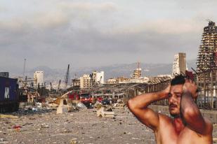 Vụ nổ làm rung chuyển thủ đô Lebanon của Beirut. Ảnh AFP.
