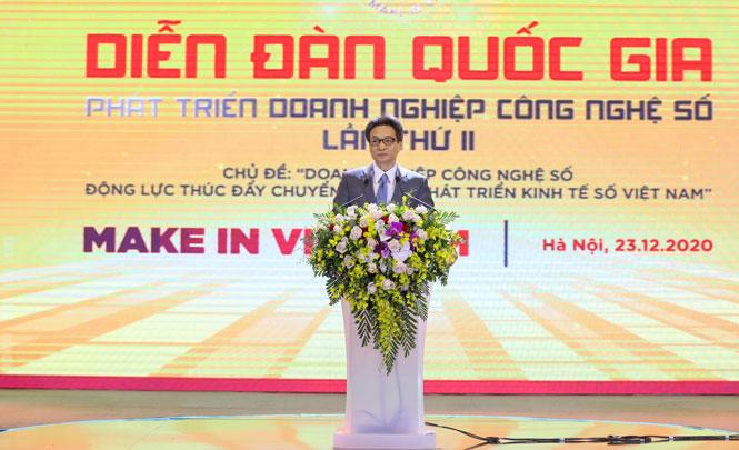 Phó Thủ tướng Chính phủ Vũ Đức Đam phát biểu tại diễn đàn.