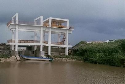 Công trình thủy lợi tại Cà Mau.
