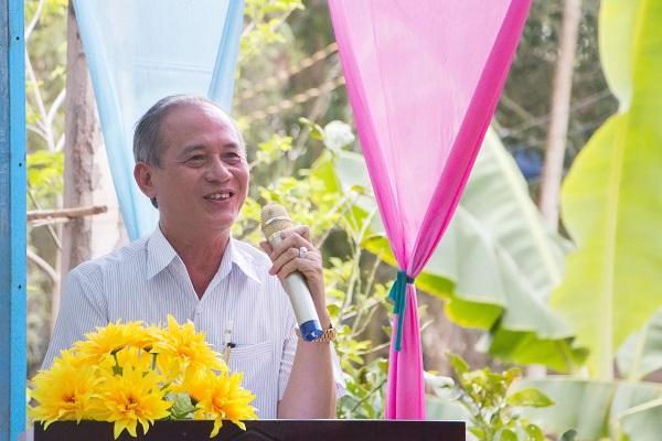 Đại diện nhà tài trợ phát biểu tại buổi lễ