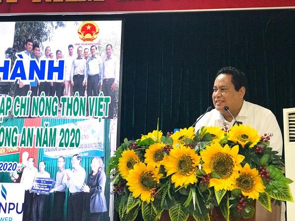 Ông Nguyễn Minh Hiếu phát biểu tại buổi lễ.