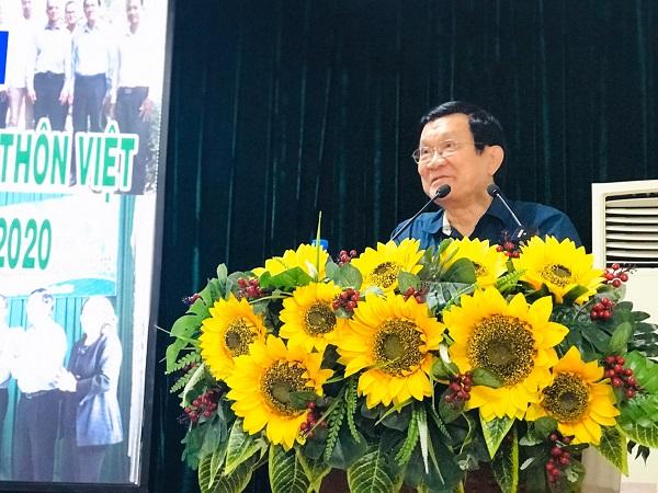 Nguyên Chủ tịch nước Trương Tấn Sang phát biểu tại buổi lễ.