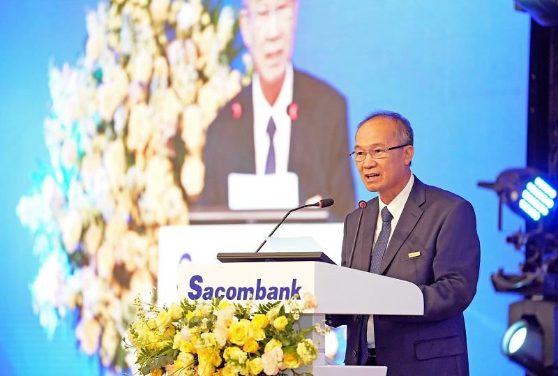 Ông Dương Công Minh – Chủ tịch HĐQT Sacombank phát biểu khai mạc Đại hội