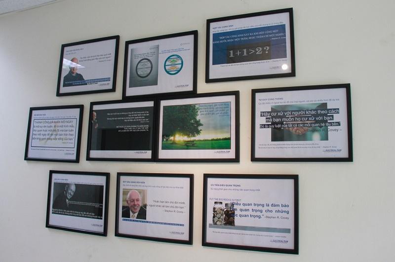 Những thông điệp ý nghĩa của 7 thói quen hiệu quả tại các lối đi trong Xưởng Điện