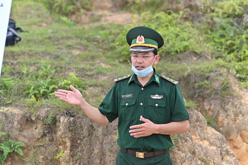 Ông Đỗ Minh Hải - Đồn trưởng đồn BP Thàng Tín.