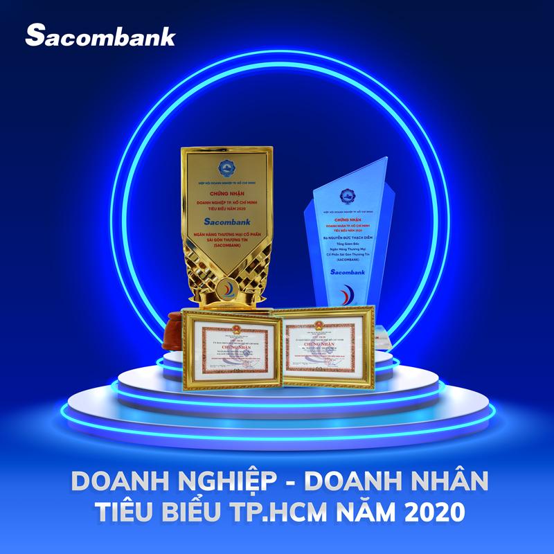 Sacombank vinh dự nhận hai danh hiệu Doanh nghiệp tiêu biểu TP.HCM năm 2020 và Doanh nhân tiêu biểu TP.HCM năm 2020