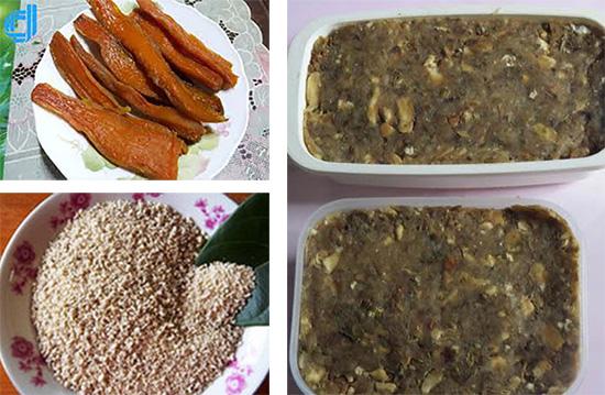 Những món ngon từ khoai của người Quảng: khoai chẻ, khoai chà, khoai ngào.