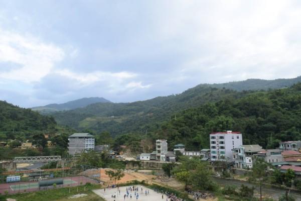 Ngã ba đèo Cổ Rồng, thị trấn Bảo Lạc. Nguồn: Internet