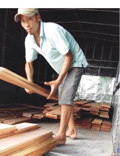 Thanh làm tổ bằng gỗ meranti đỏ là một trong những vật liệu thu hút yến làm tổ.
