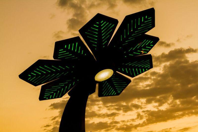 Cây cọ năng lượng mặt trời thông minh ở Dubai (ảnh: Shutterstock).