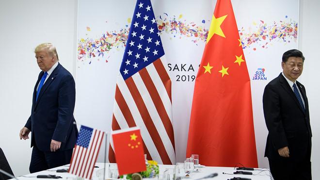 Tổng thống Mỹ Donald Trump và Chủ tịch Trung Quốc Tập Cận Bình sau cuộc gặp ở hội nghị G20 tại Osaka (Nhật Bản) hồi tháng 6.2019 REUTERS