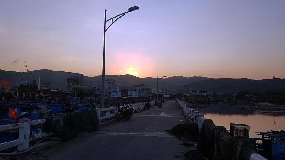 Chiều về trên vùng đất Sa Huỳnh.