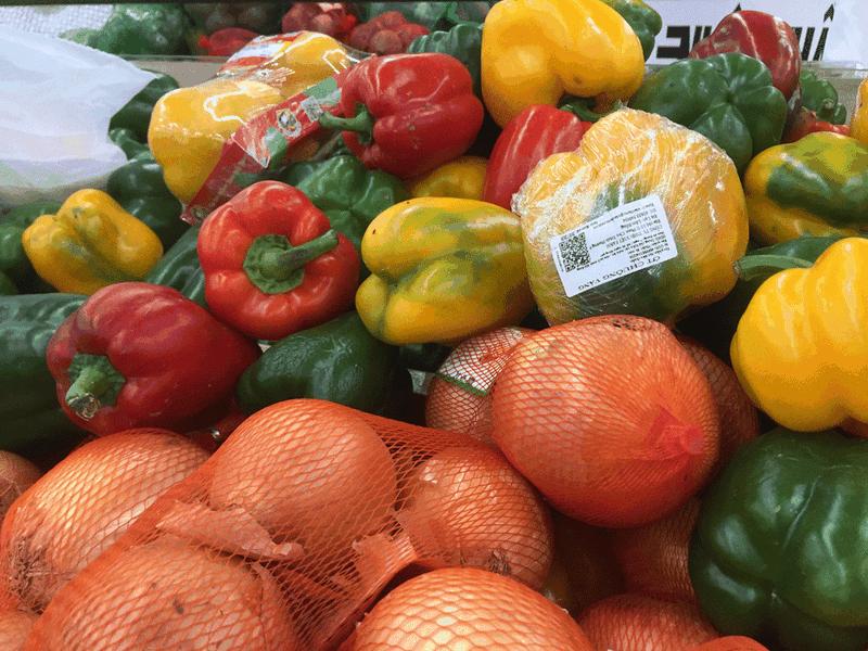 Ớt chuông chứa hàm lượng vitamin C cao được chứng minh làm giảm huyết áp. Ảnh: NHẬT LINH