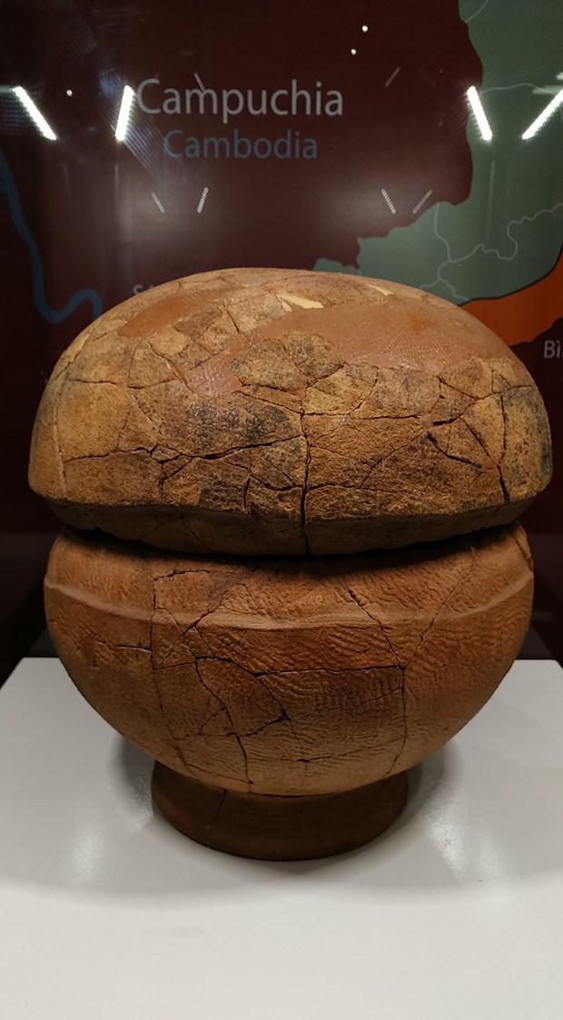 Mộ chum, hình thức chôn cất phổ biến của người Việt thuộc nền văn hóa Sa Huỳnh. (Ảnh: Minh Thu/Vietnam+).