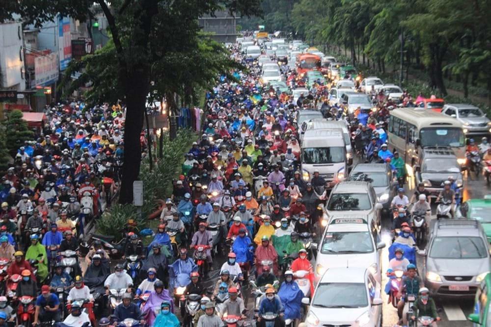 Hình ảnh kẹt xe kinh hoàng ở cửa ngõ sân bay Tân Sơn Nhất. (Ảnh tư liệu: Tiền Phong)