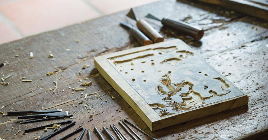 Bản khắc gỗ làm bản in