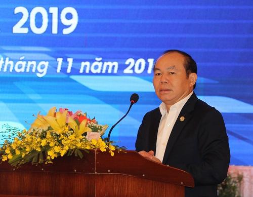 Ông Nguyễn Ngọc Bảo - Chủ tịch Liên minh HTX Việt Nam phát biểu tại Hội nghị.