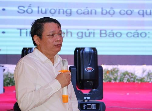 Ông Tạ Việt Dũng - Cục trưởng Cục Ứng dựng và Phát triển công nghệ phát biểu tại buổi lễ.