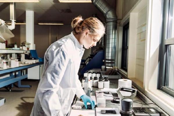 Nhà khoa học ở Đại học Wageningen kiểm tra mẫu đất trong phòng thí nghiệm để tìm cách cách mạng hóa sản xuất thực phẩm. Ảnh: FoF.