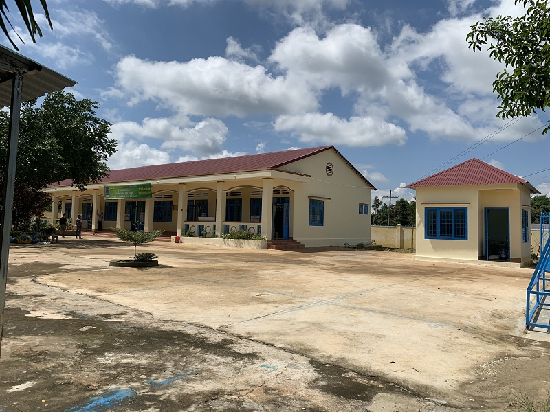 Toàn cảnh trường Mầm non Ea Na sau khi được nâng cấp, sửa chữa