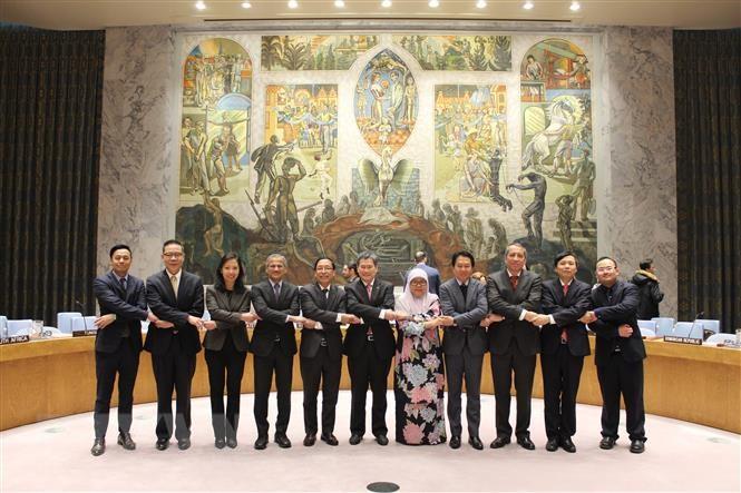 Đại sứ các nước ASEAN tại Liên hợp quốc. (Ảnh: TTXVN).